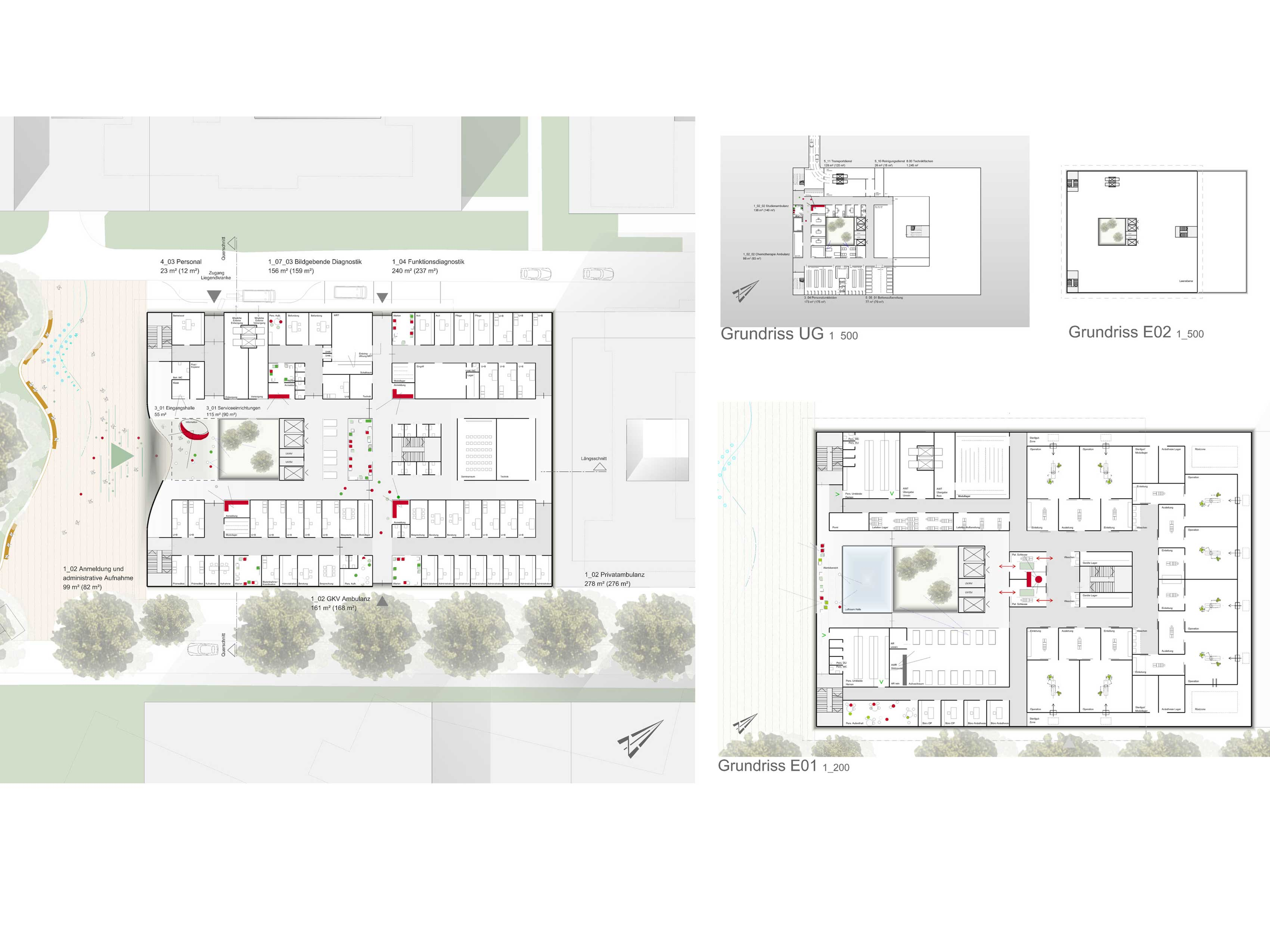 Neubau der Martini-Klinik Lageplan / Grundrisse